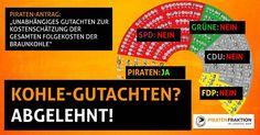 Nachdem die Grüne Fraktion NRW sich in der Koalition selber verraten hat tuen sie im #ltnrw wieder alles um gegen den Klimawandel vorzugehen. Und damals? Gutachten(!) zu den Folgekosten der Braunkohle abgelehnt. #piraten #piratenpartei #ltnrw #fraktion #nrw #braunkohle #klimawandel #klimawandelstoppen #20Piraten #piratenfraktion