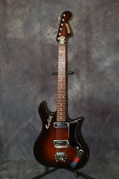 Today, Lawman Guitars is Presenting..  One of the Cadillacs of vintage guitars! A 1965 Made in Sweden, Hagstrom Impala WITH the original form fitting Deluxe Softshell Case.. Give us a call. Lawman Guitars. 515-864-6136