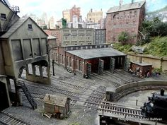 Model railroad projects: You could make a clock inside a newborn baby. Rely on t. Ho Trains, Model Trains, Train Ho, South Manchester, Escala Ho, Make A Clock, Model Train Layouts, Round House, Scale Models