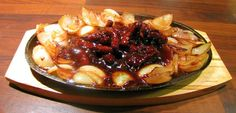 Tender steak cooked in a sweet sauce - tastes just like you get in the local Chinese restaurant. Serve on a cast iron plate to enhance the characteristic sizzle when serving. Serves 2.