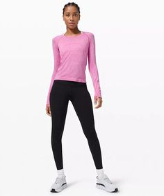 athletic apparel + technical clothing | lululemon Long Sleeve Tops, Long Sleeve Shirts, Personal Shopping, Race Day, How To Run Longer, Lululemon, Racing, Sporty, Style Inspiration