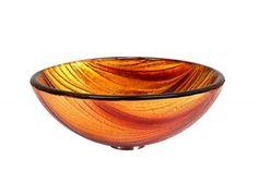 GS-D20 DELLA #glass #vessel #sink #bathroom #handcrafted #multicolored #brown #copper