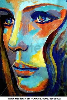 """I want to try this style of painting [Saatchi Online Artist: Helena Wierzbicki; Acrylic 2013 Painting """"""""Between herself and the world""""""""] Tableau Pop Art, Arte Pop, Love Art, Painting Inspiration, Painting & Drawing, Painting Styles, Figure Drawing, Amazing Art, Saatchi Art"""