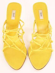 Prada Heels in Yellow.