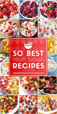 50 Best Fruit Salad Recipes - 50 Best Fruit Salad Recipes These cool and refreshing fruit salad recipes are delicious and so easy to make! Bring them to summer brunch, cookouts, potlucks and more. – 50 Best Fruit Salad Recipes Source by Dressing For Fruit Salad, Best Fruit Salad, Fruit Salad Recipes, Salad Dressing Recipes, Fruit Salads, Best Salad Recipes, Soup Recipes, Recipies, Easy Summer Meals
