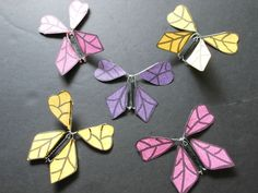 Amazing Image of Paper Butterflies Craft Paper Butterflies Craft How To Make A Twirling Paper Butterfly 19 Steps With Pictures Flying Butterfly Card, Flying Card, How To Make Butterfly, Butterfly Birthday Cards, Diy Butterfly, Butterflies Flying, Paper Butterflies, Butterfly Cards, Butterfly Mobile