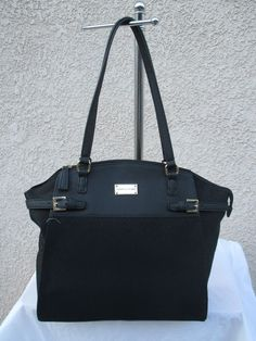 New Handbag Tommy Hilfiger Purse Tote Black 6937570 990 Free Shipping US Buyer #TommyHilfiger #Tote