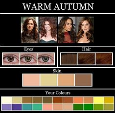 THE SKIN TONE SEASONS: AUTUMN After taking multiple photos of myself in different colors I am pretty sure I fall into this category.