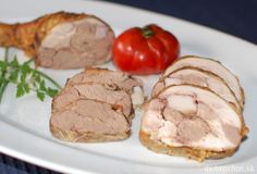 Fotorecept: Kuracie stehná plnené kuracou pečeňou   Dobruchut.sk Pork, Meat, Kale Stir Fry, Pork Chops