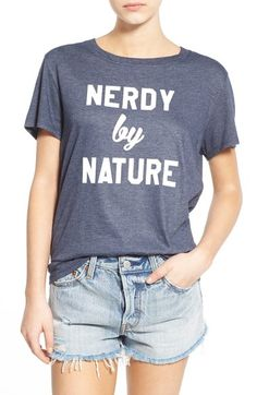 Free shipping and returns on Sub_Urban Riot 'Nerdy by Nature' Graphic Tee at Nordstrom.com. You cram for SATs? Yeah, you know me! Show off your old-school hip-hop cred and geek-chic attitude in a classic crewneck tee cut from a soft triblend.