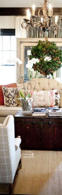 Living Room · Innenarchitektur (Wohnzimmer)Wohnzimmer IdeenWohnzimmerentwürfeInnendekorationRustikaler  ...
