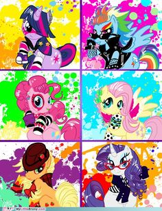 My little pony friendship is magic punk rock ponies