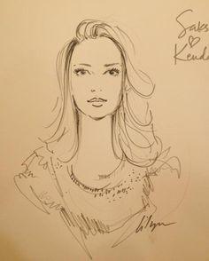 """Live-Sketching at Saks"" Saks Loves Kendall"