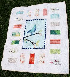 Wrenly Baby Bird Applique Quilt - Free Shipping by sallysangelworks on Etsy https://www.etsy.com/listing/103585162/wrenly-baby-bird-applique-quilt-free