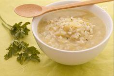 La minestra di riso, porri e patate