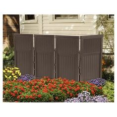 Outdoor Privacy Screen Panels 4 Enclosure Backyard Patio Resin Wicker Porch for sale online Garden Fence Panels, Garden Fencing, Outdoor Fencing, Garden Swings, Garden Hose, Foyers, Bar Patio, Patio Seating, Privacy Screen Outdoor