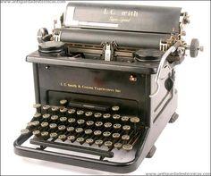 Antigua máquina de escribir L.C Smith Super Speed. 1937