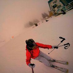 Me skiing ski slovenia snow action shot gopro