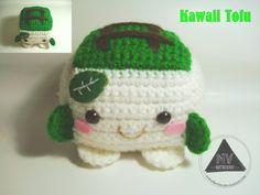 Kawaii Tofu - Free Amigurumi Pattern here: http://nvkatherine.deviantart.com/#/art/Kawaii-Tofu-amigurumi-FREE-PATTERN-438133122?hf=1