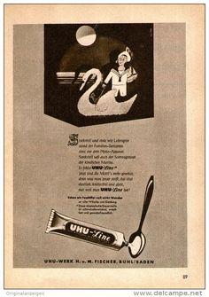 Original-Werbung/ Anzeige 1956 - UHU LINE WÄSCHESTEIFE - ca. 120 x 170 mm