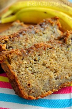 This is in my over right now! Umm, smells amazing! Easy to throw together & claims to be THE BEST banana bread