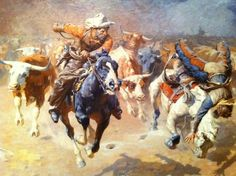 The Stampede by William Robinson Leigh (1933)