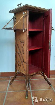 Старинный бамбуковый шкафчик кон.19-нач.20 вв— фотография №2