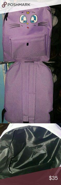 Sailor moon canvas backpack Purple sailor moon canvas backpack. Brand new. #sailormoon #backpack #anime #japanese #kawaii #hottopic Bags Backpacks