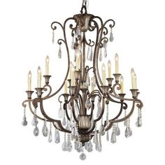 Bel Air Lighting Cabernet Collection Antique Bronze Chandelier 3965 - The Home Depot Globe Chandelier, Trans Globe Lighting, Ceiling Lights, Chandelier Lighting, Crystal Chandelier, Bronze Chandelier, Bel Air Lighting, Light, Chandelier