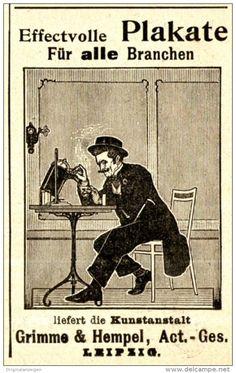 Original-Werbung/ Anzeige 1898 - PLAKATE / KUNSTANSTALT GRIMME & HEMPEL…