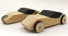 "HIT - Faculty of Design - Exhibition - ""Our Car""- Toy cars exhibition at the ""Vitrina"" gallery in the Industrial Design Department. HIT - Faculty of D. Wood Kids Toys, Wood Toys, Wooden Toy Trucks, Wooden Car, Wood Block Crafts, Wooden Crafts, Making Wooden Toys, Wood Games, Toy Art"
