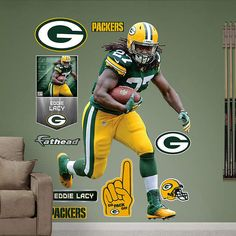 Fathead Green Bay Packers Eddie Lacy No 27 Graphic   Wall Sticker Outlet Part 71
