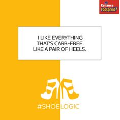 Shoes are the best diet in the world. Share your #Shoelogic to buy shoes at #RelianceFootprint World Square Mall - WSM #MohanNagar