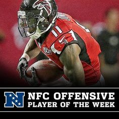 Julio Jones was named NFC Offensive Player of the Week. #Falcons #RiseUp #PHIvsATL