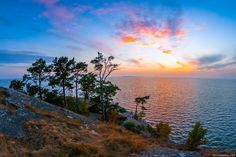 Hanko, Finland: Sunset view from Krokudden headland in Hanko, the southernmost city of Finland.