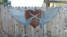 Upcycled old Corrugated Metal Wings with Cross by RockinBTradingCo, $69.00