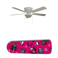 "Monster High 52"" Ceiling Fan and Lamp"