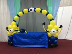 Cómo Minion Balloon Decoration Arch column centerpiece Tutorial Plus Decorations columns Diy Minion Decorations, Minion Centerpieces, Girl Baby Shower Decorations, Balloon Centerpieces, Balloon Decorations Party, Birthday Party Decorations, Birthday Parties, Minion Balloons, Mickey Balloons
