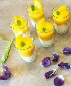 Pfirsich Dessert mit Mascarpone im Glas