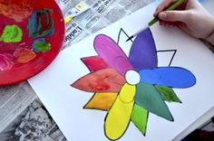 The color wheel like a flower Color Wheel Projects, Art Projects, Projects To Try, Project 3, Color Theory, Art Lessons, Creative, Flowers, Painting