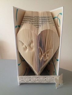 Book folding pattern for a Heart with by BookFoldingForever