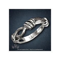 Ring Barbed-Wire Silber Gothic ❤ liked on Polyvore featuring jewelry, rings, goth rings, gothic jewellery, gothic jewelry, barbed wire ring and barbed wire jewelry