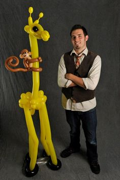 Giraffe & Monkey balloon