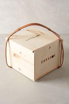 Wooden Pie Box Carrier - anthropologie.com #anthrofave