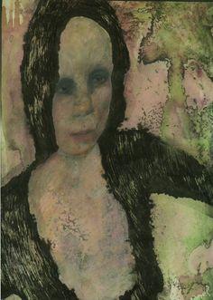 """ghazal bigdelou; Painting, """"the woman"""""""