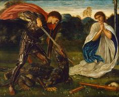 The Pre-Raphaelites and the St George Legend. St George is the keeper of shepherds and time.