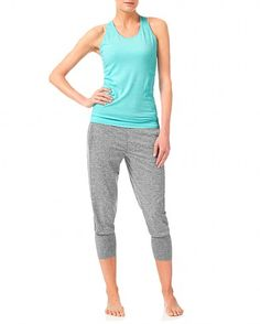 0d5097aa059df Garudasana 3/4 Yoga Pants - StoneMarl | trousers | Sweaty Betty Yoga Capris,