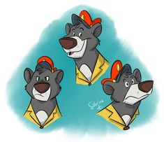 """Pilot Bear by Sibsy.deviantart.com on @DeviantArt #baloo #talespin Some weird Baloo doodles. (Because whoever didn't pick Tale Spin as """"best Disney Afternoon show"""" in my recent Twitter poll was wrong)"""