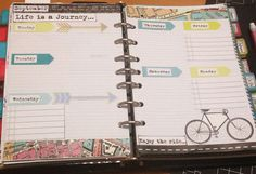 Filofax decorated page week 09-08 // Craft Room Secrets