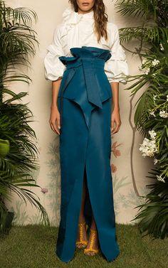 Tayrona Paperbag Long Skirt by JOHANNA ORTIZ for Preorder on Moda Operandi